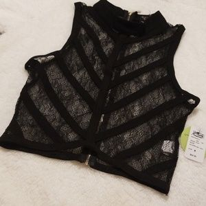 Windsor lace top with back ziper